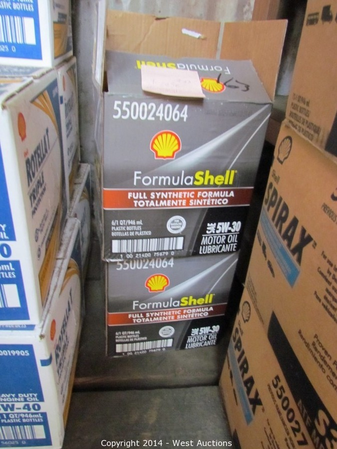 West auctions auction well known oil and fuel for Bulk motor oil distributors