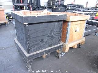 (2) 2'x2' Wood Carts