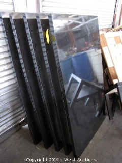 (5) Giarari Black Lacquer Table Tops 3'x5' (no legs)