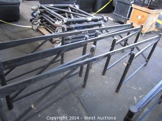"(3) StageRight Adjustable Platform Z-Base 24""-32"""