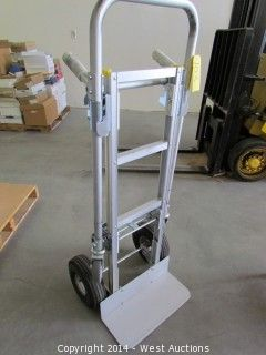 West auctions liquidation of forklift warehouse for Furniture hand truck