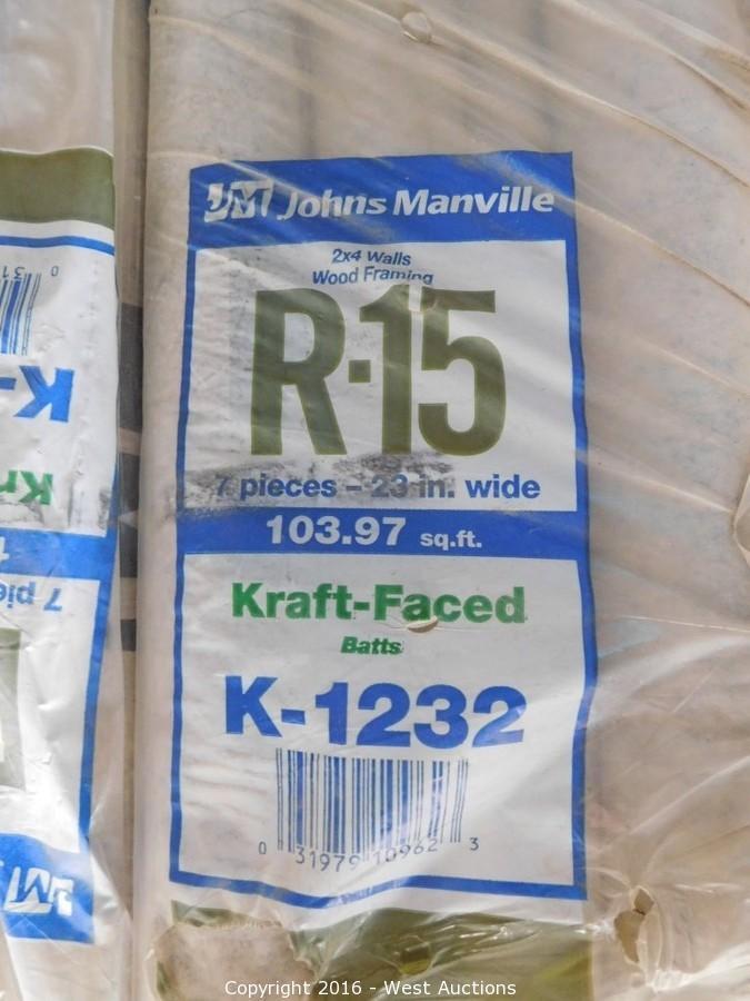 West auctions auction surplus auction 1 insulation for Compressed fiberglass insulation
