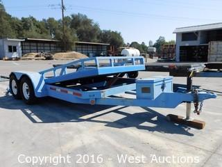 1999 Pac West 16'x6' Tilt Equipment Trailer