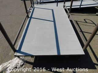 (1) 7'x4' Steel Deck Ramp with Adjustable Height Legs