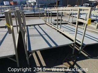 (1) 10'x4' Steel Deck Ramp with Adjustable Height Legs