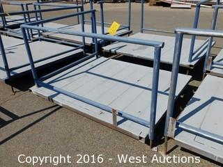(1) 6'x5' Steel Deck with Adjustable Height Legs