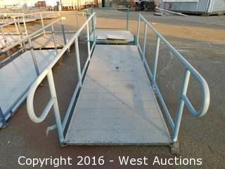 (1) 12'x4' Steel Deck Ramp with Adjustable Height Legs