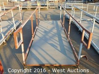 (1) 12'x4' Steel Deck Ramp with Adjustable Legs