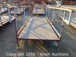 (1) 12'x4' Steel Deck Ramp with Adjustable Legs