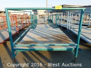 (2) Piece 19' Steel Deck Ramp and Platform with Adjustable Height Legs
