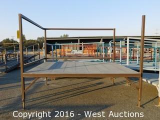 (2) Piece 19' Steel Deck Ramp and Platform with Adjustable Height Legs