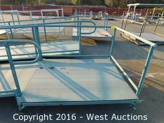 (2) Piece 20' Steel Deck Ramp with Platform and Adjustable Height Legs
