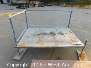 (1) 7'x5' Steel Deck Platform with Adjustable Height Legs