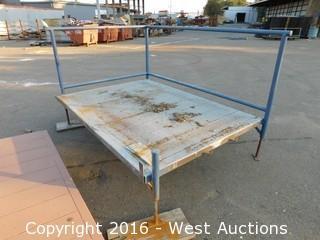 (1) 7'x5' Steel Deck Platform with Adjustable Height Legs