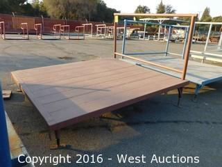 (1) 6'x6.5' Steel Deck Platform with Adjustable Height Legs
