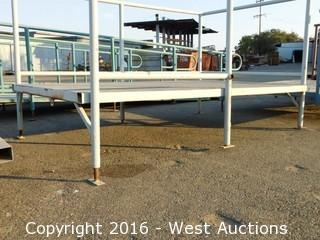 (1) 8'x5' Steel Deck Platform with Adjustable Height Legs