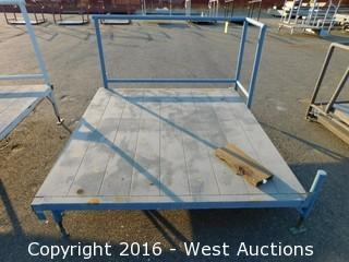 (1) 6'x6.5' Steel Deck Platform with Adjustable Legs