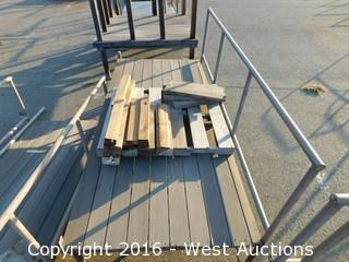 (2) Piece 16'x4-1/4' Steel Framed Deck with Stairs