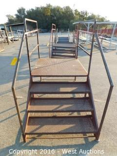(1) 6.5' Long x 4' Wide Steel Access Stairs