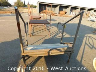(1) 4' Wide Adjustable Height Steel Stairs
