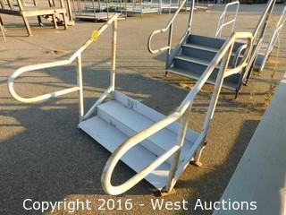 (1) 4' Wide Adjustable Height Steel Stairs