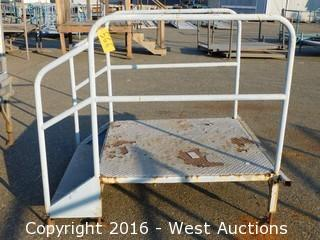 (1) 3' Wide Steel Access Stair with Adjustable Legs