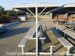 12' Portable Picnic Table with Cover and Benches
