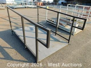 (1) 6'x4' Steel Deck Ramp with Adjustable Legs