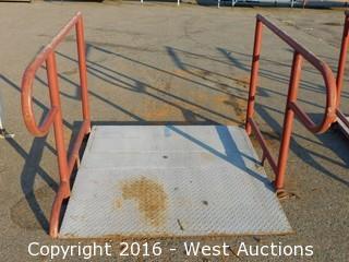 (1) 4'x4' Steel Deck Ramp with Adjustable Legs