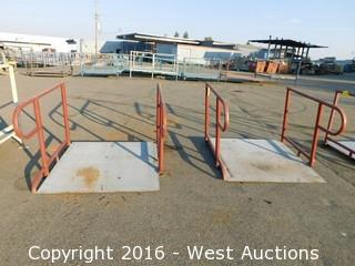(1) 4'x4' Steel Deck Ramp with Adjustable Legs