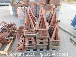 "Pallet of 18"" Steel Stands, Approximately (80+)"