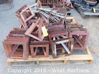 "Pallet of (50+) 16"" Steel Stands"