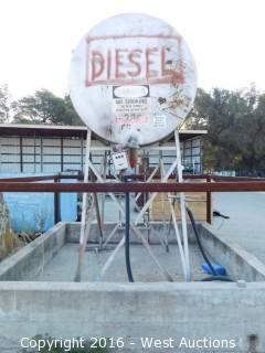 500 Gallon Diesel Tank with Stand and Pump
