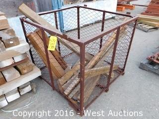 "41""x41""x37"" Tall Steel Cage with Lumber"