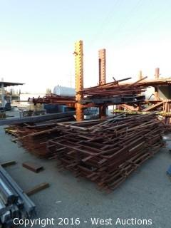 Cantilever Rack with 40+ Steel 4'x8' Frames and Pipes