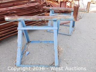 (2) 5' Wide Heavy Duty Sawhorses