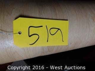 "(1) 59"" Wide Roll of Linoleum"