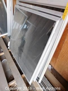 """(4) 96""""x48"""" Window Frames with (4) Windows"""
