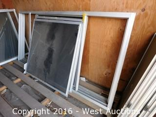 "(4) 96""x48"" Window Frames with (4) Windows"