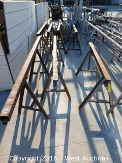 (7) Heavy Duty Steel Sawhorses