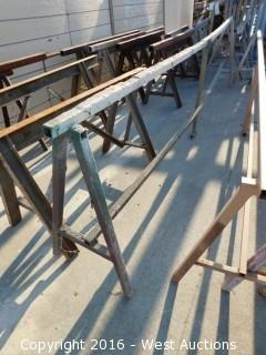 (8) Steel Sawhorses