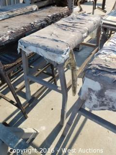 (6) Steel Framed Sawhorses