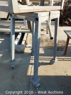 Custom Built Steel Table with Casters