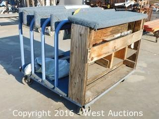 4'x4' Carpeted Material Cart