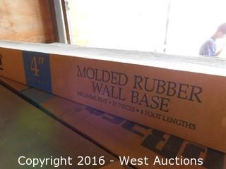 "Bulk Lot; (1) Shelf with (29+) Boces of 4"" Molded Rubber Wall Bases"