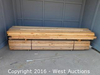 "Bulk Lot of 2x7 Lumber 129"" Long"