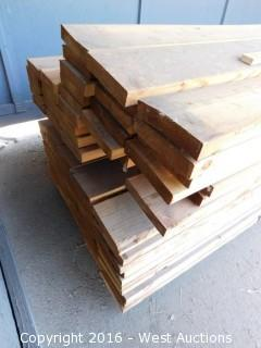 "Bulk Lot of 2x7 Lumber 129"" Long"