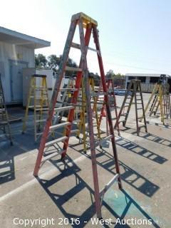 8' Werner Fiberglass Folding Ladder