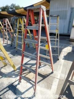 6' Louisville Fiberglass Folding Ladder