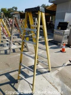 6' Greenbull Fiberglass Folding Ladder